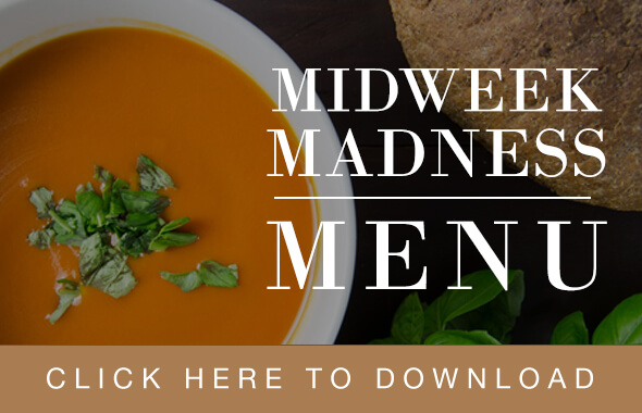The Hospital Inn Midweek Madness Menu