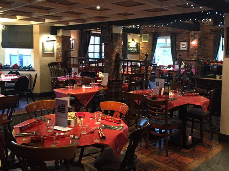 The Hospital Inn Pub in Preston at Christmas